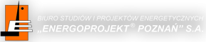 """Logotyp """"Energoprojekt Poznań"""" SA"""